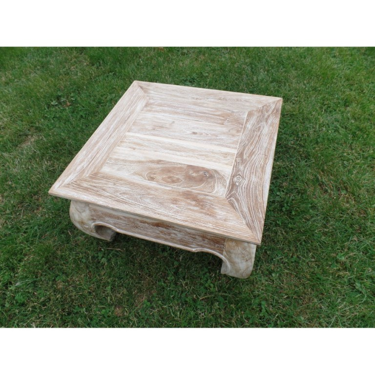 Awesome table basse bois blanc ceruse 1 relooking table for Table basse bois blanc ceruse