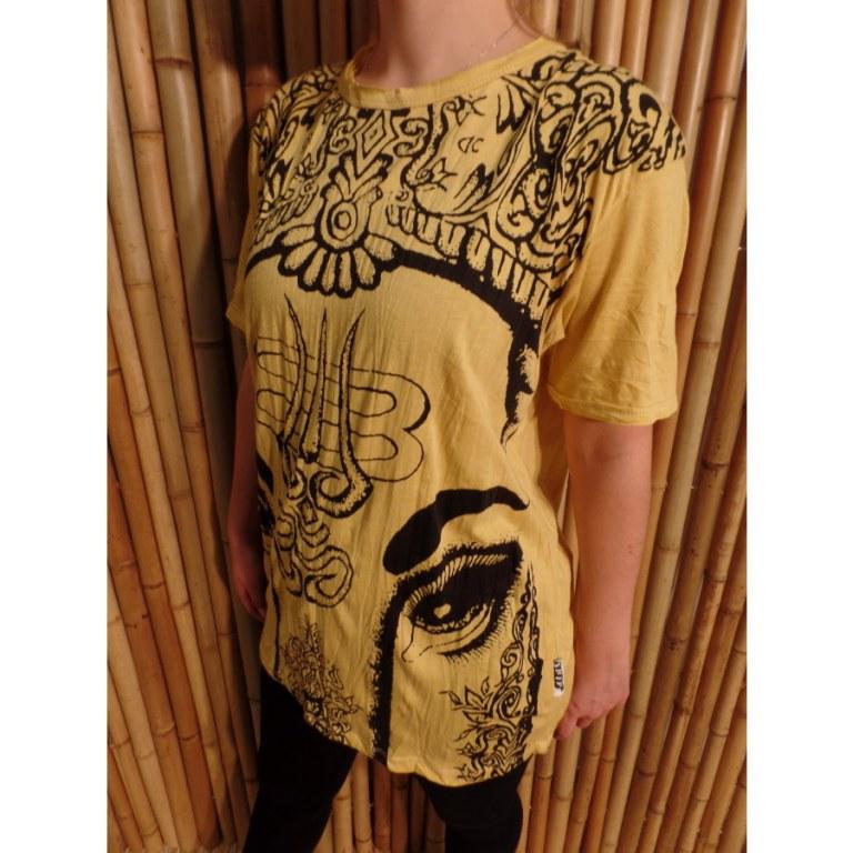 Tee shirt jaune vif éléphant aum