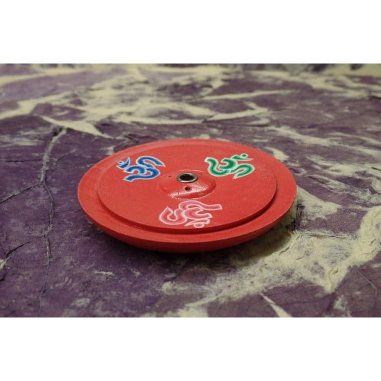 Petit porte encens rouge Aum
