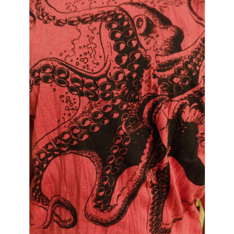 Tee shirt rouge le poulpe