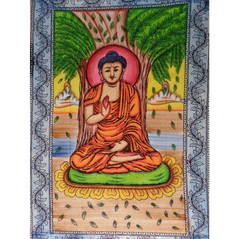 Tenture color Bouddha assis