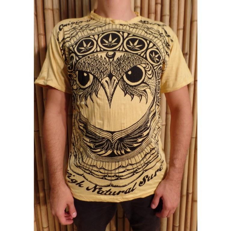 Tee shirt jaune hibou