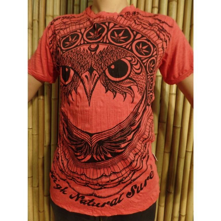 Tee shirt rouge hibou