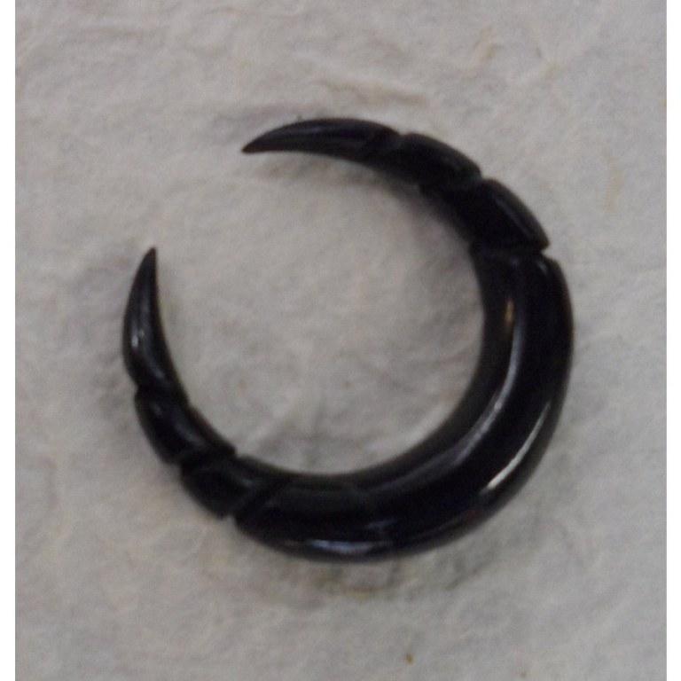 Ecarteur en corne noire croissant