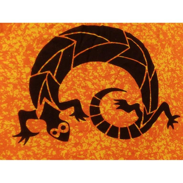 Mini tenture orange noir abstract gécko