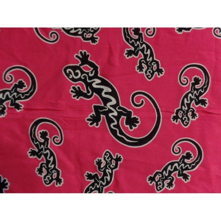 Mini tenture rose foncé les lézards noirs