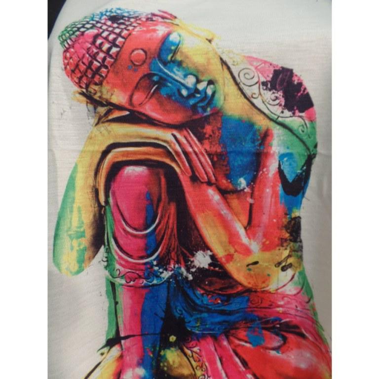 Débardeur Bouddha tête penchée color