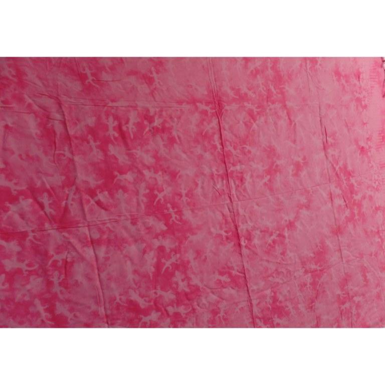Paréo/tenture rose les lézards