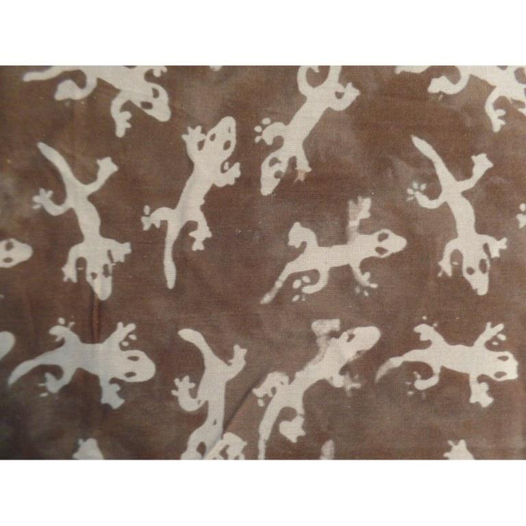 Paréo/tenture marron les lézards