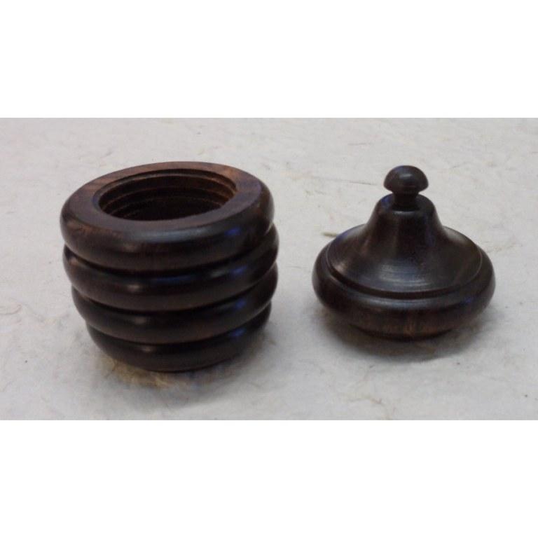 Mini-boîte en bois anneaux