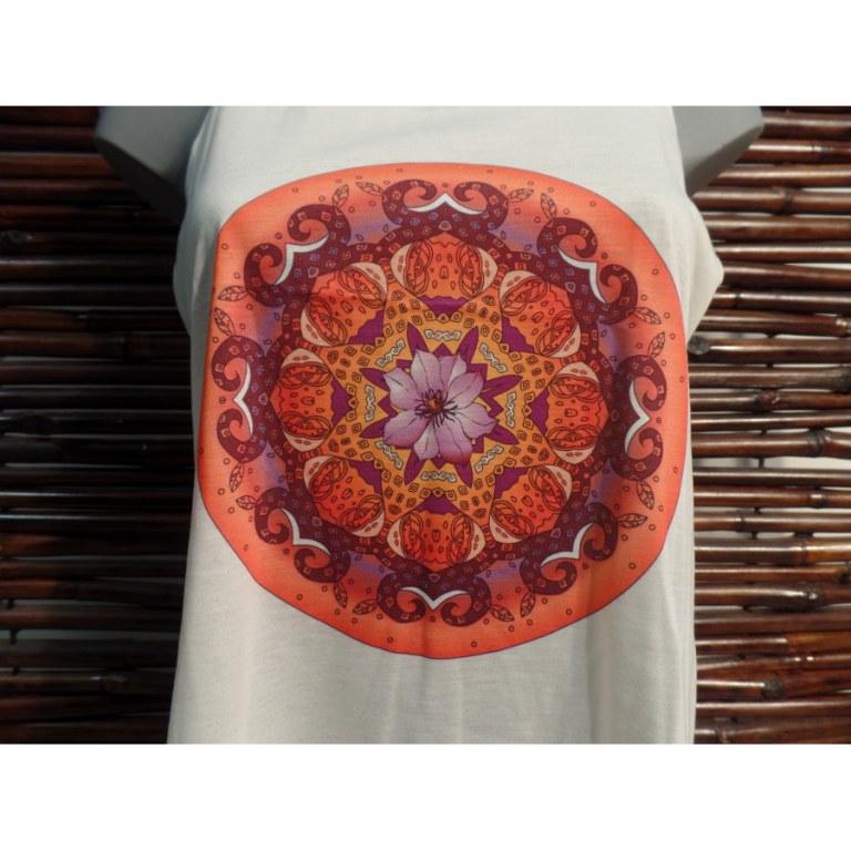 Débardeur mandala fleuri