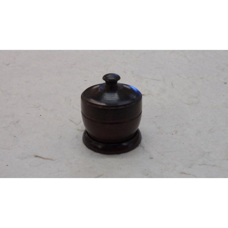 Mini-boîte en bois petit pot