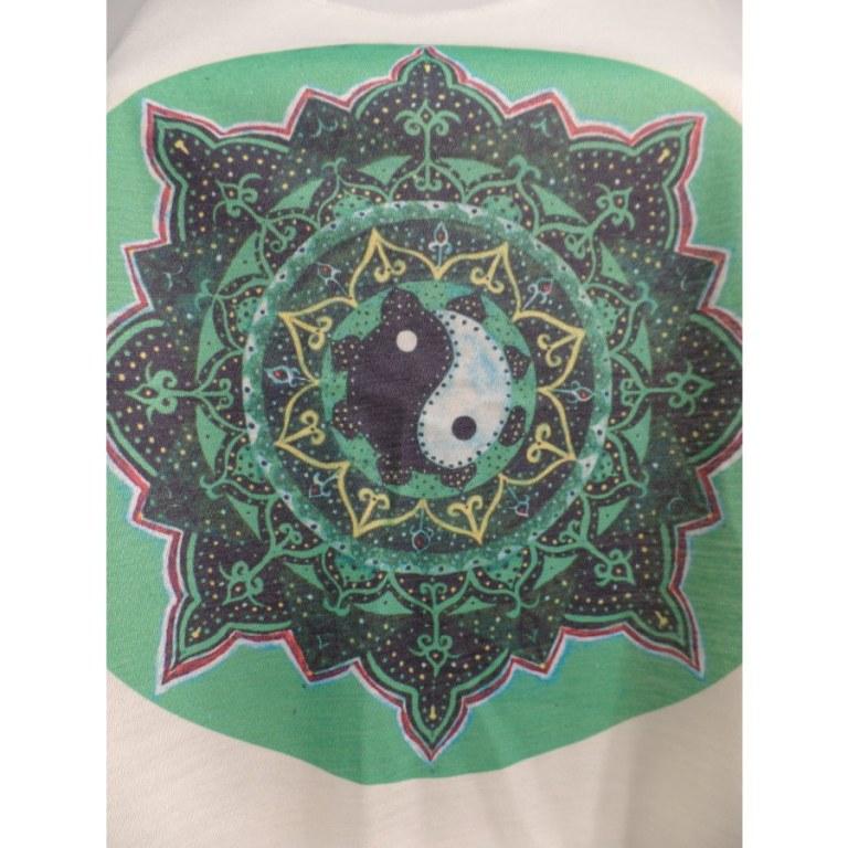 Débardeur rosace verte yin yang