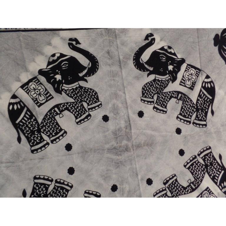 Tenture grise la parade des éléphants