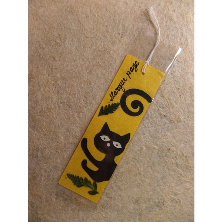 Marque page chat noir