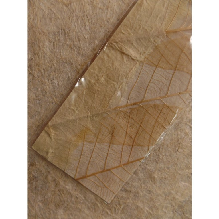 Marque page beige feuille