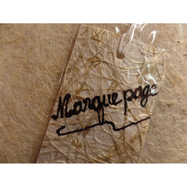 Marque page beige