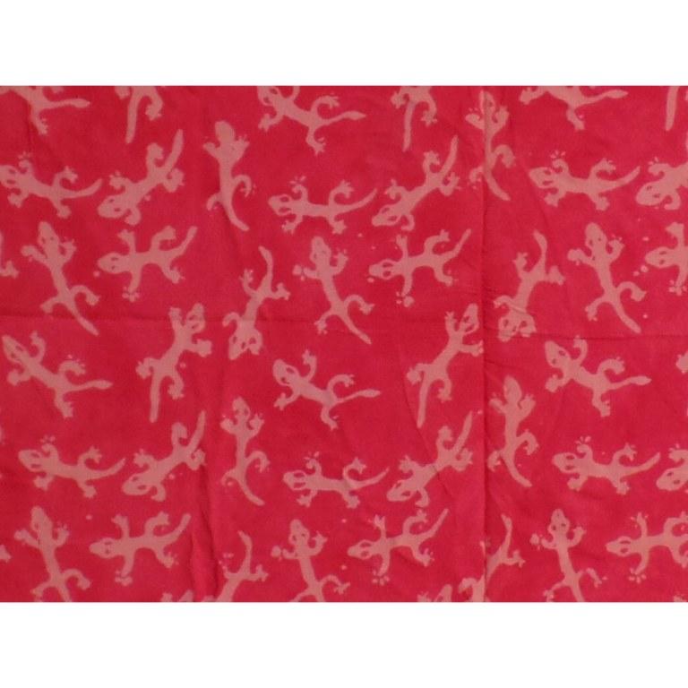 Paréo/tenture rouge les lézards