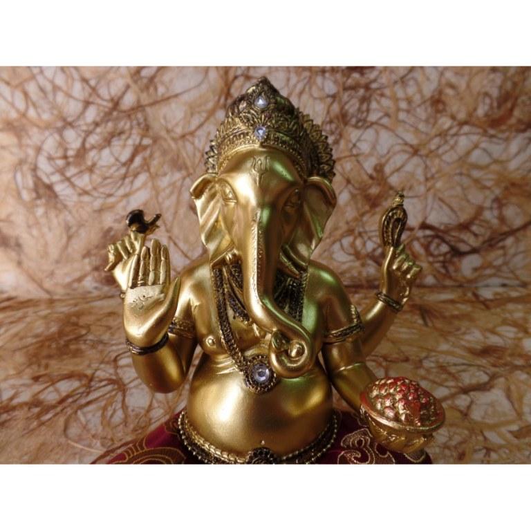 Ganesh doré/rouge