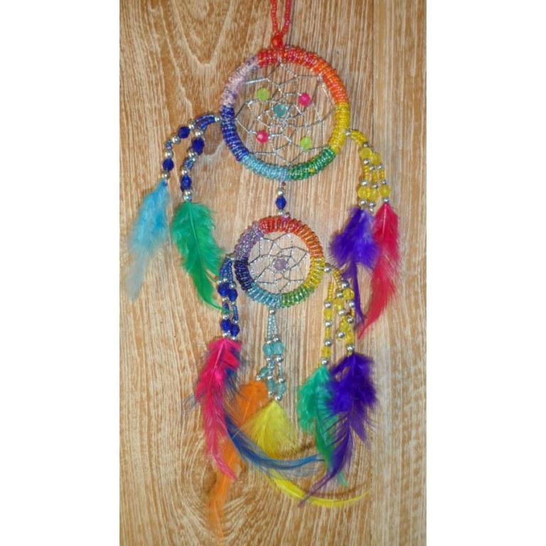 Dreamcatcher 2 cercles arc en ciel