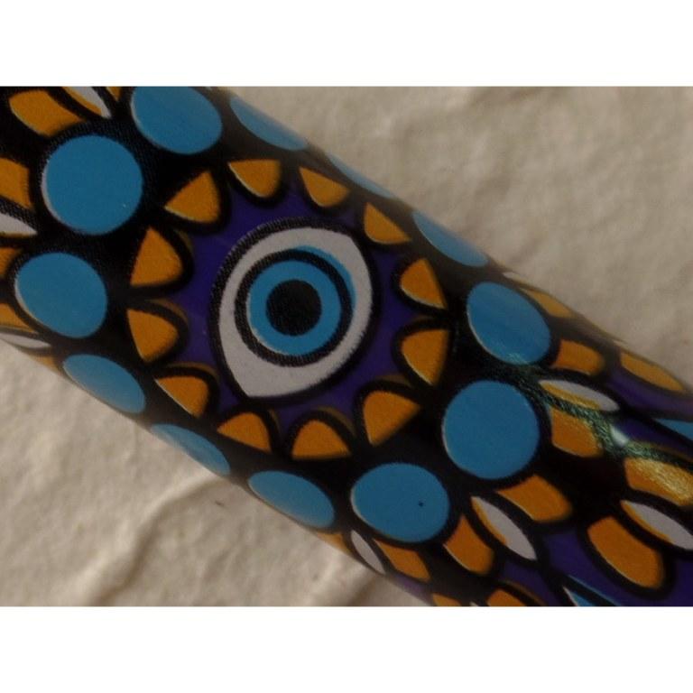 Briquet mandala eyes violet