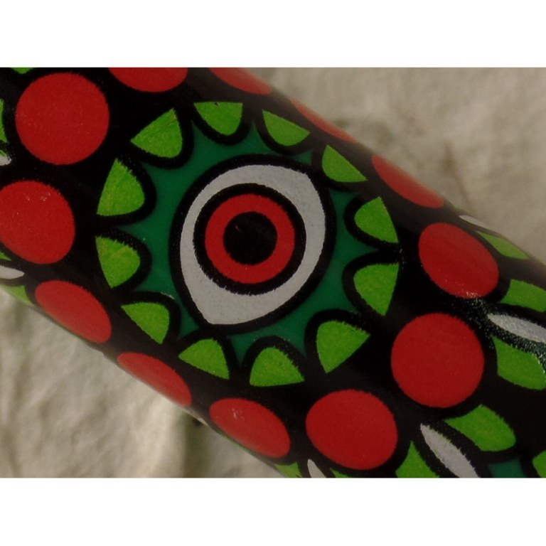 Briquet mandala eyes vert