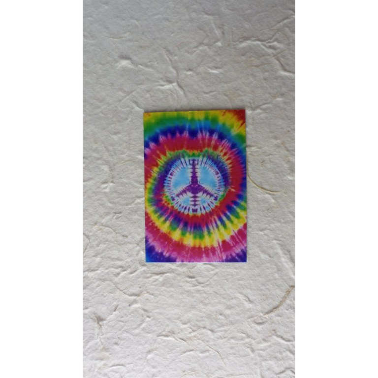 Aimant peace and love rainbow