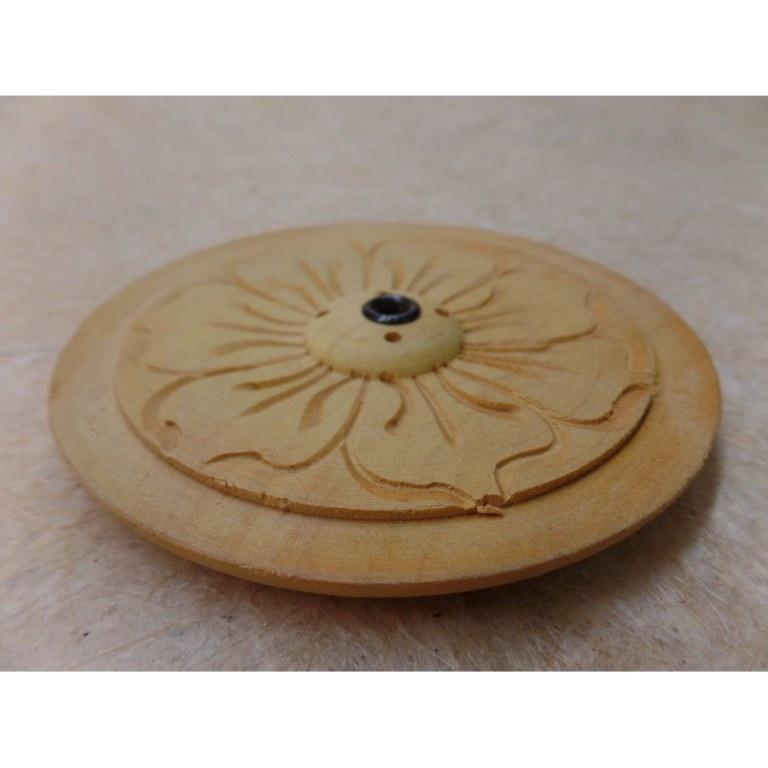 Porte encens rond fleur 7 pétales