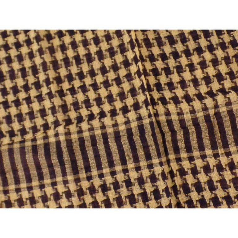 Foulard Riyad carreaux jaune/noir