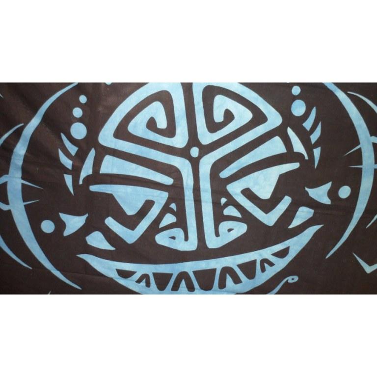 Tenture tribal space bleu