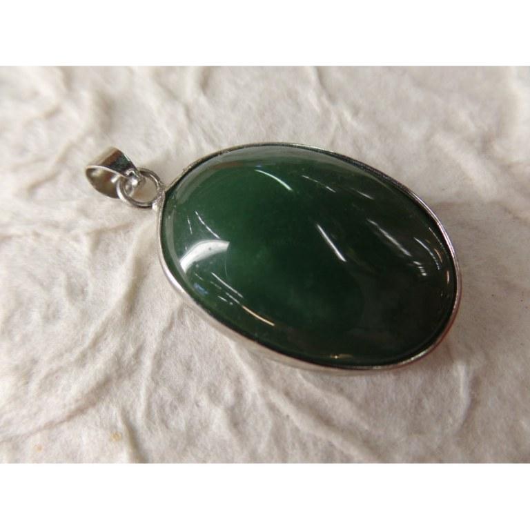 Petit cabochon jade vert mousse