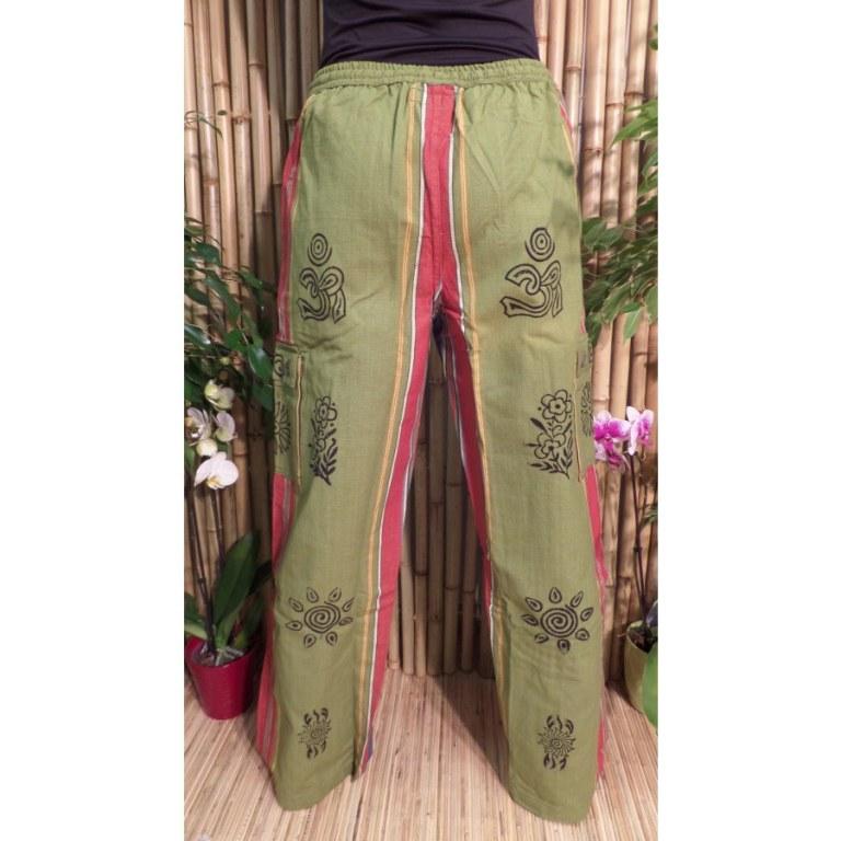 Pantalon Thamel vert/bleu