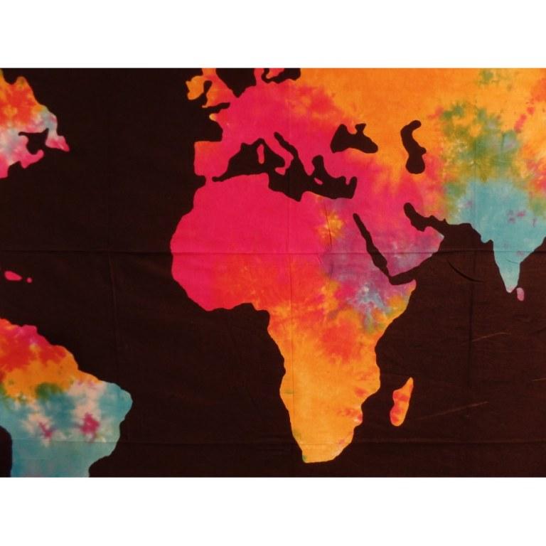 Tenture colors planisphère
