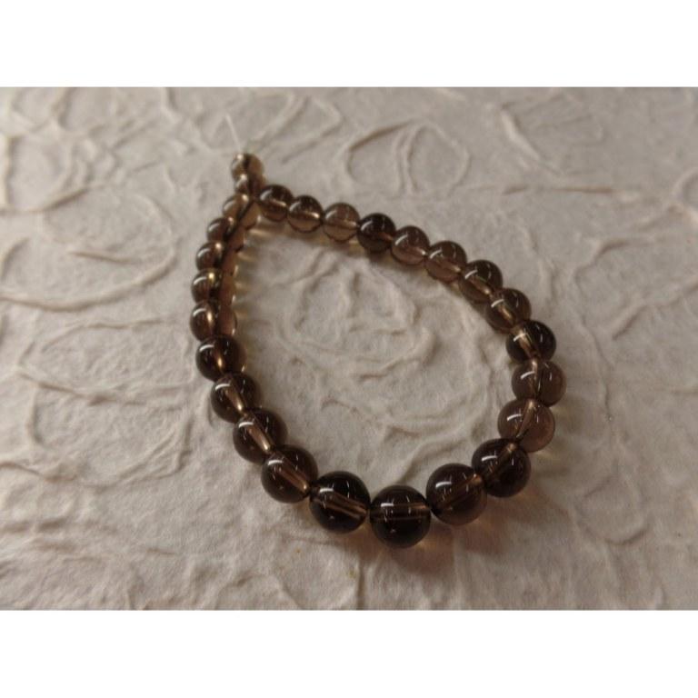 Bracelet mala obsidienne fumée
