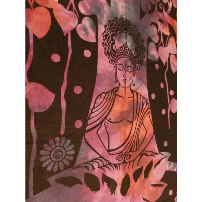 Tenture Bouddha arbre mauve