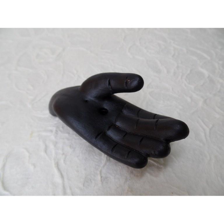 Porte encens noir main gauche