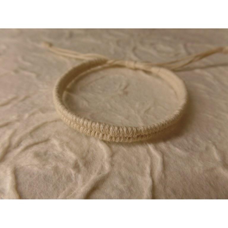 Bracelet tali écru modèle 4 étroit