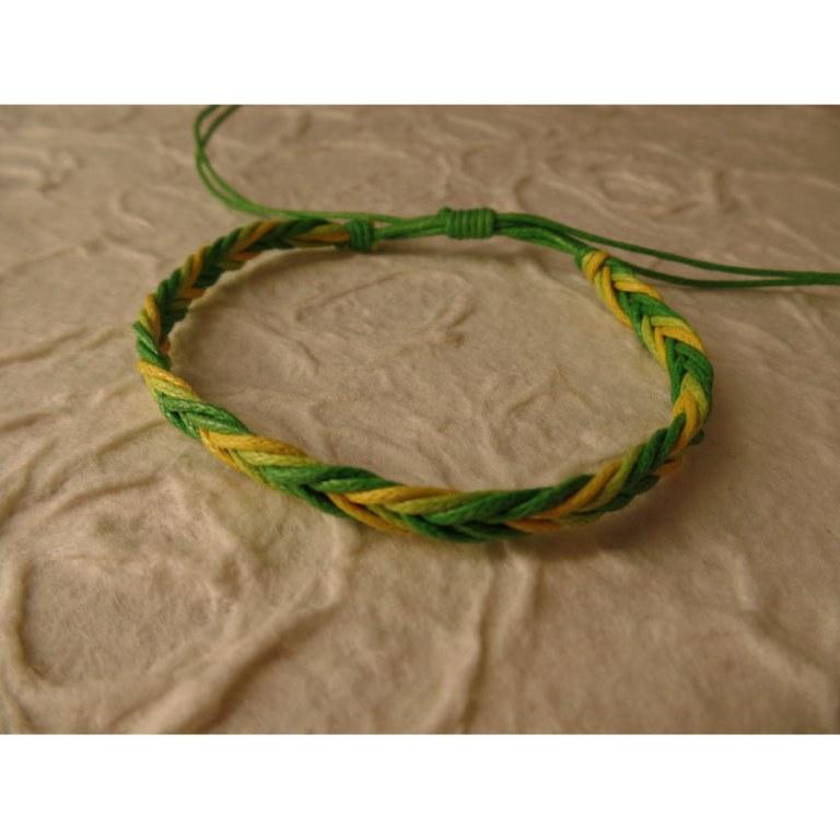 Bracelet tali vert/jaune modèle 5
