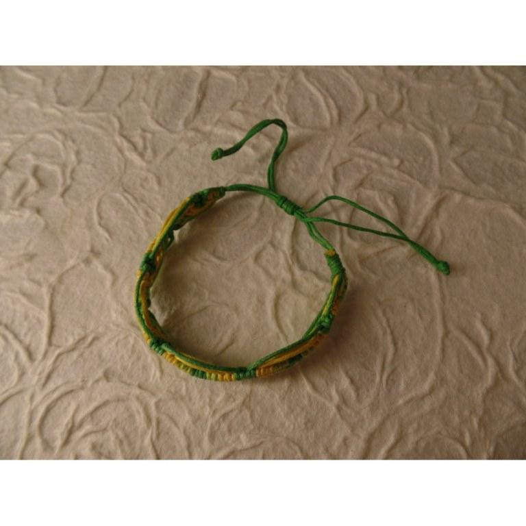 Bracelet tali vert/jaune modèle 7