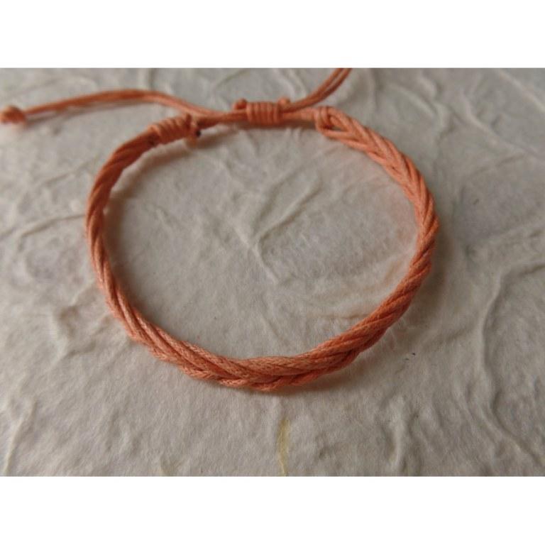 Bracelet 2 fils tali saumon modèle 5