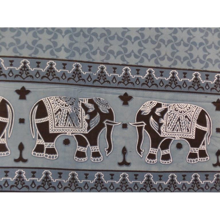 Tenture bleue la ronde des éléphants