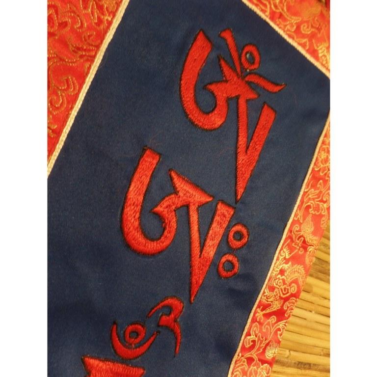 Bannière tibétaine bleu mantra Padmasambhava