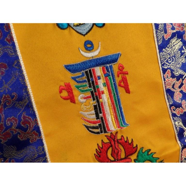 Broderie tibétaine 5 symboles