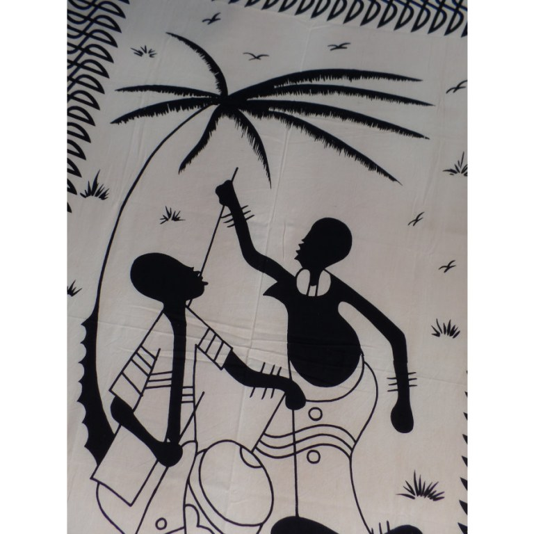 Tenture noir et blanc sous le palmier