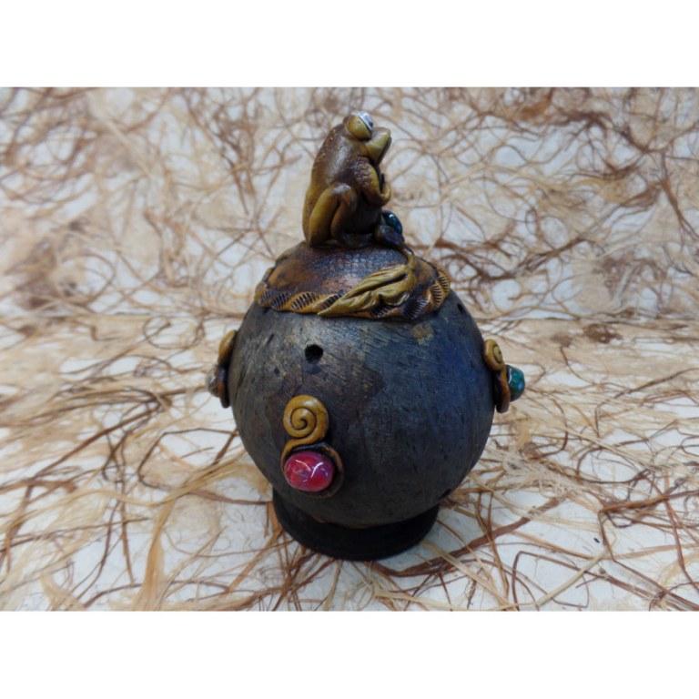 Brûle encens boule grenouille