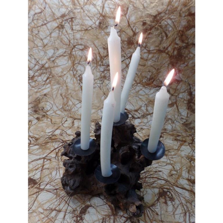 Chandelier racine haut 5 bougies