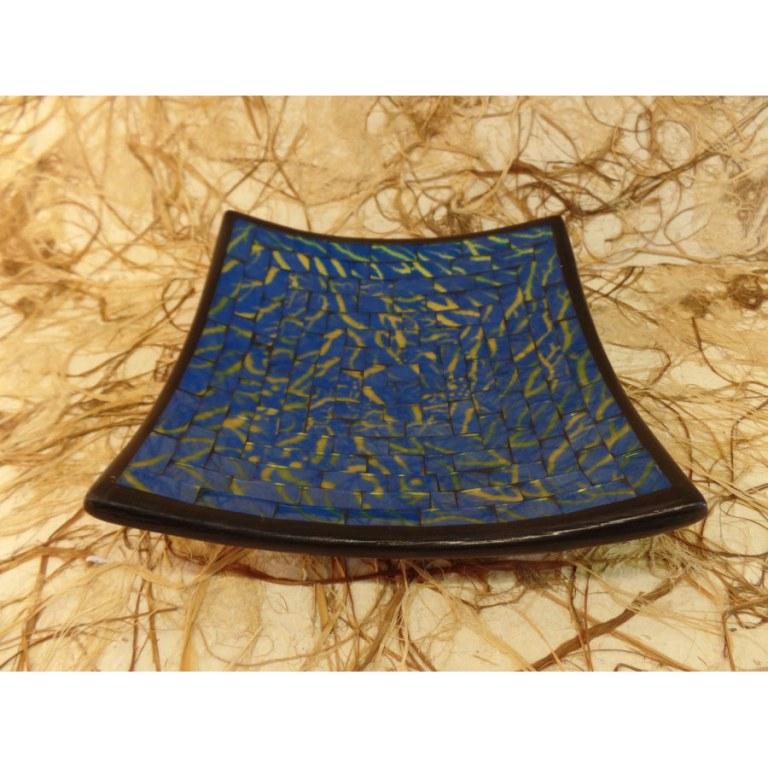 Plat carré mosaïk bleu