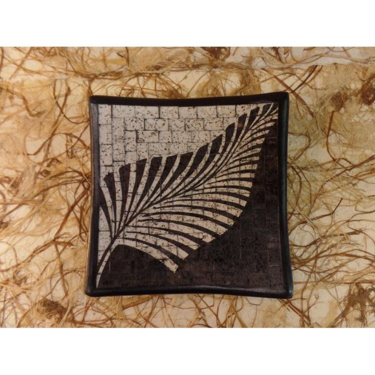 Plat carré mosaïk feuille