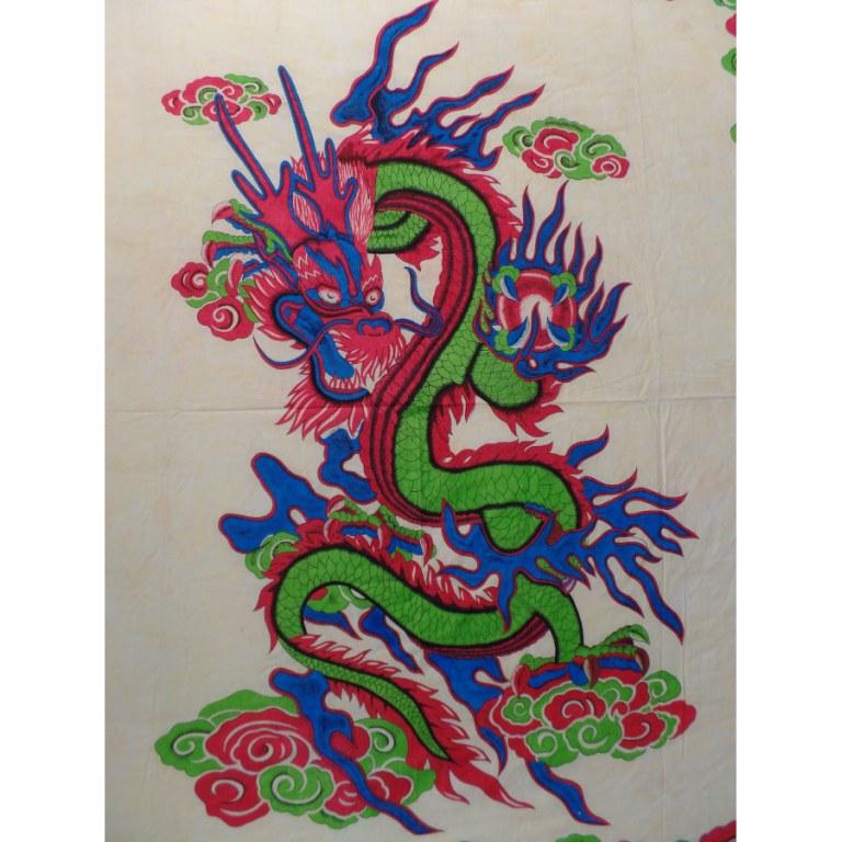 Tenture colorée dragon chinois