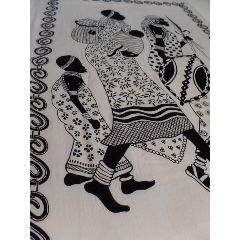 Tenture noir et blanc african women